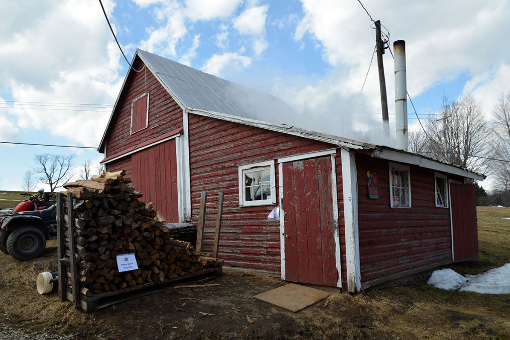 16 Soukup sugar shack and woodpile