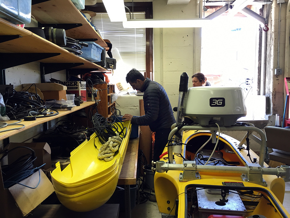 Hanu Singh with his AUV at Woods Hole