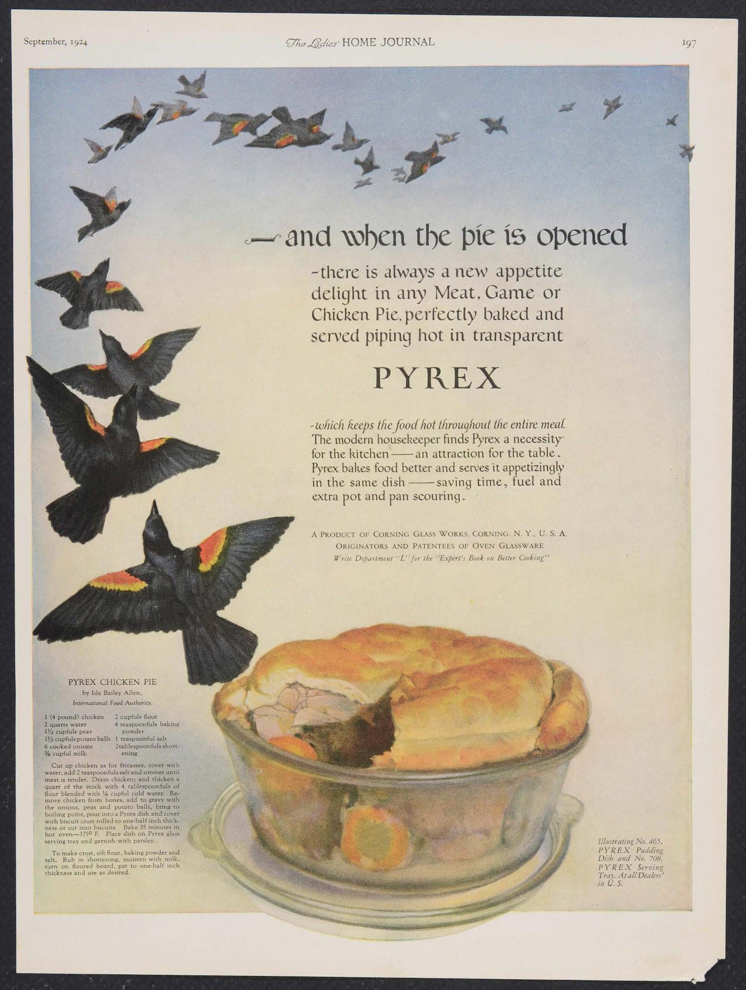 Pyrex Ad 1924