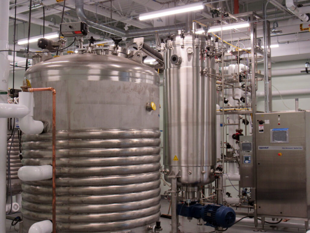 Fermentation tanks at Intralytix